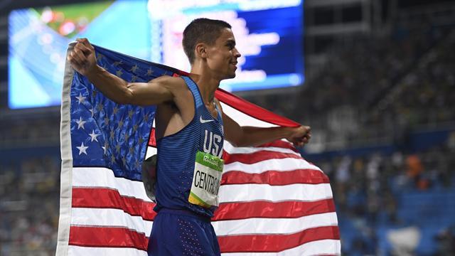 Matt Centrowitz wins 1500m after final lap tear-up