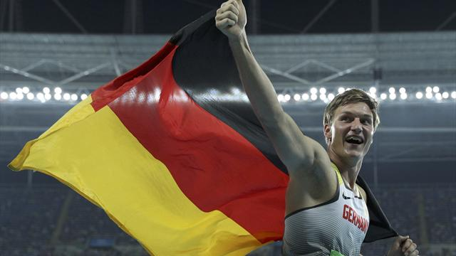 Germany's Rohler takes gold in men's javelin