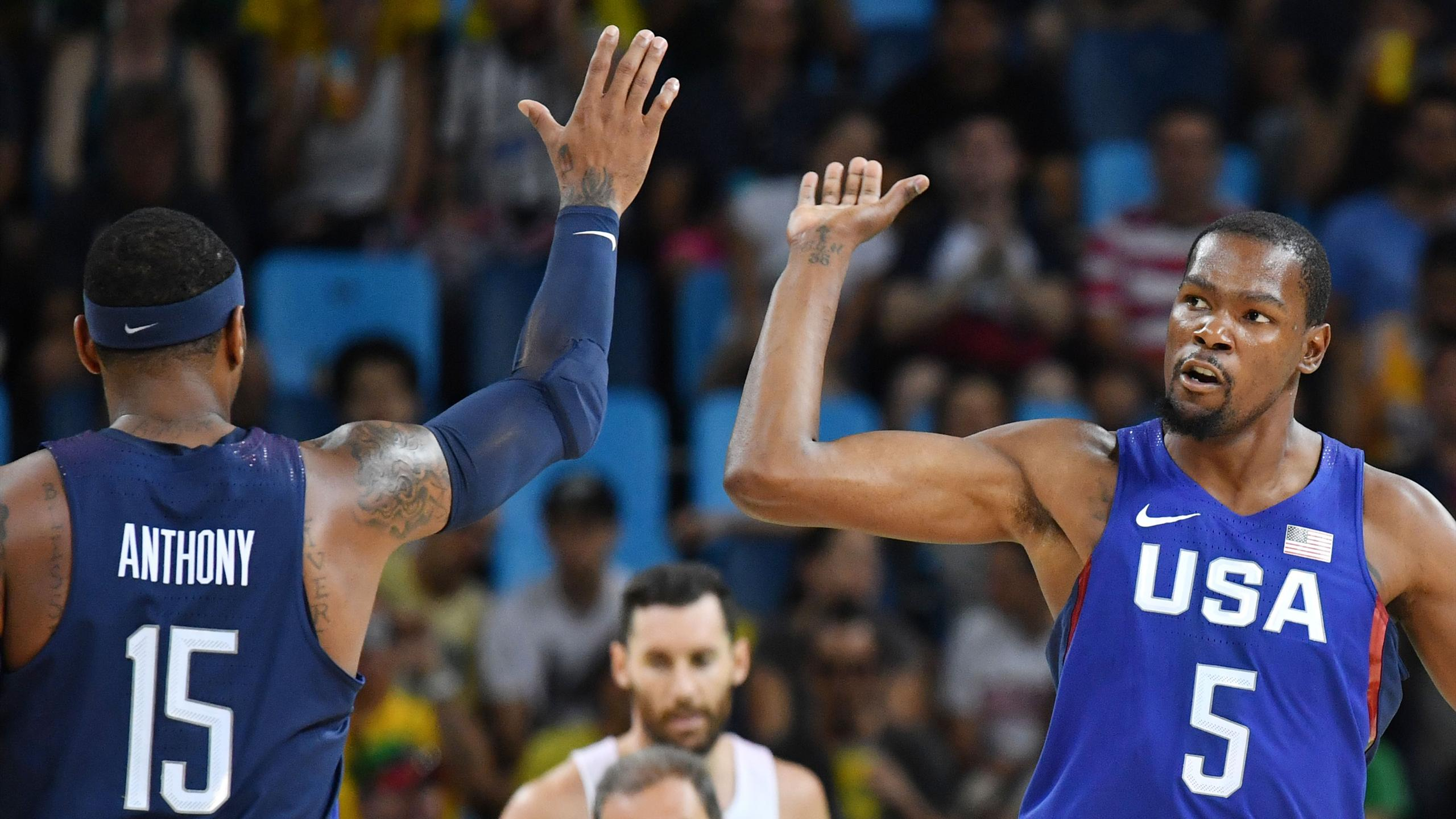 Carmelo Anthony et Kevin Durant (Team USA)