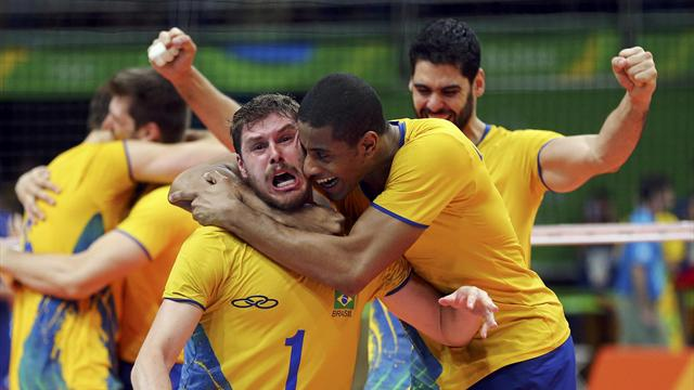 Brazil's men beat Italy to win third volleyball gold