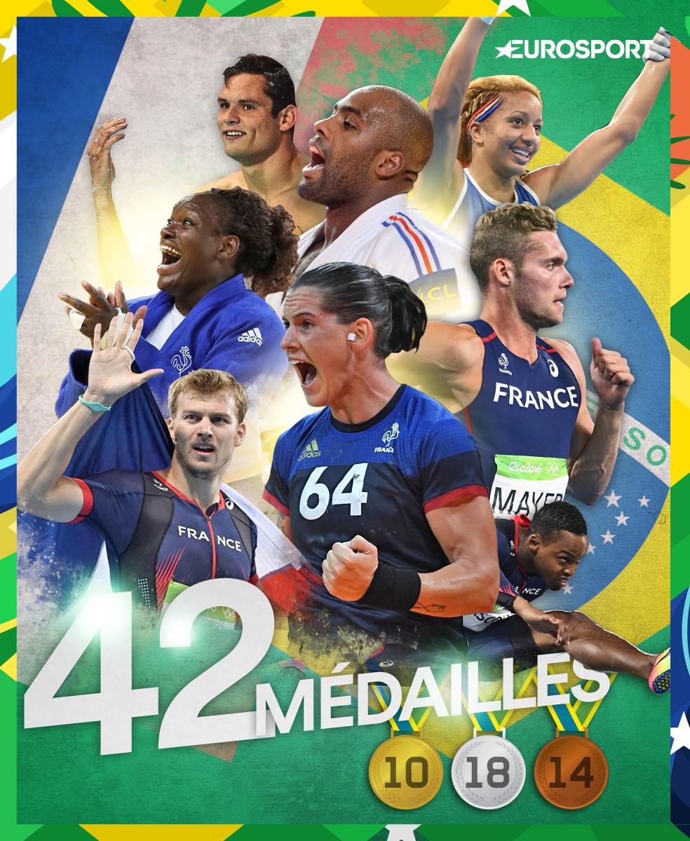 42 médailles France JO Rio 2016