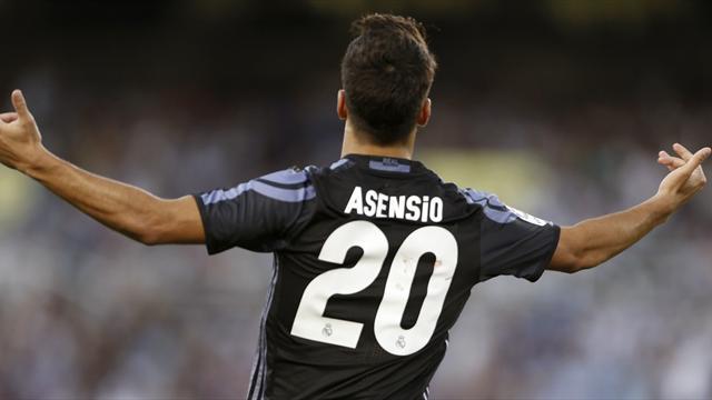 Асенсио понадобилось 4 удара в створ, чтобы забить в дебютных матчах в Суперкубке УЕФА, Примере и ЛЧ