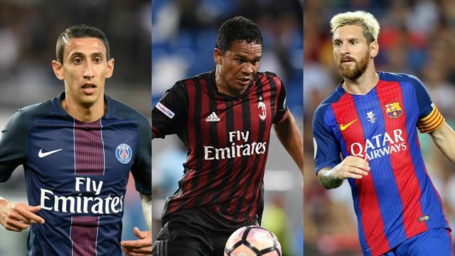 Avec Di Maria, Messi et Bacca, c'est l'assurance tous risques