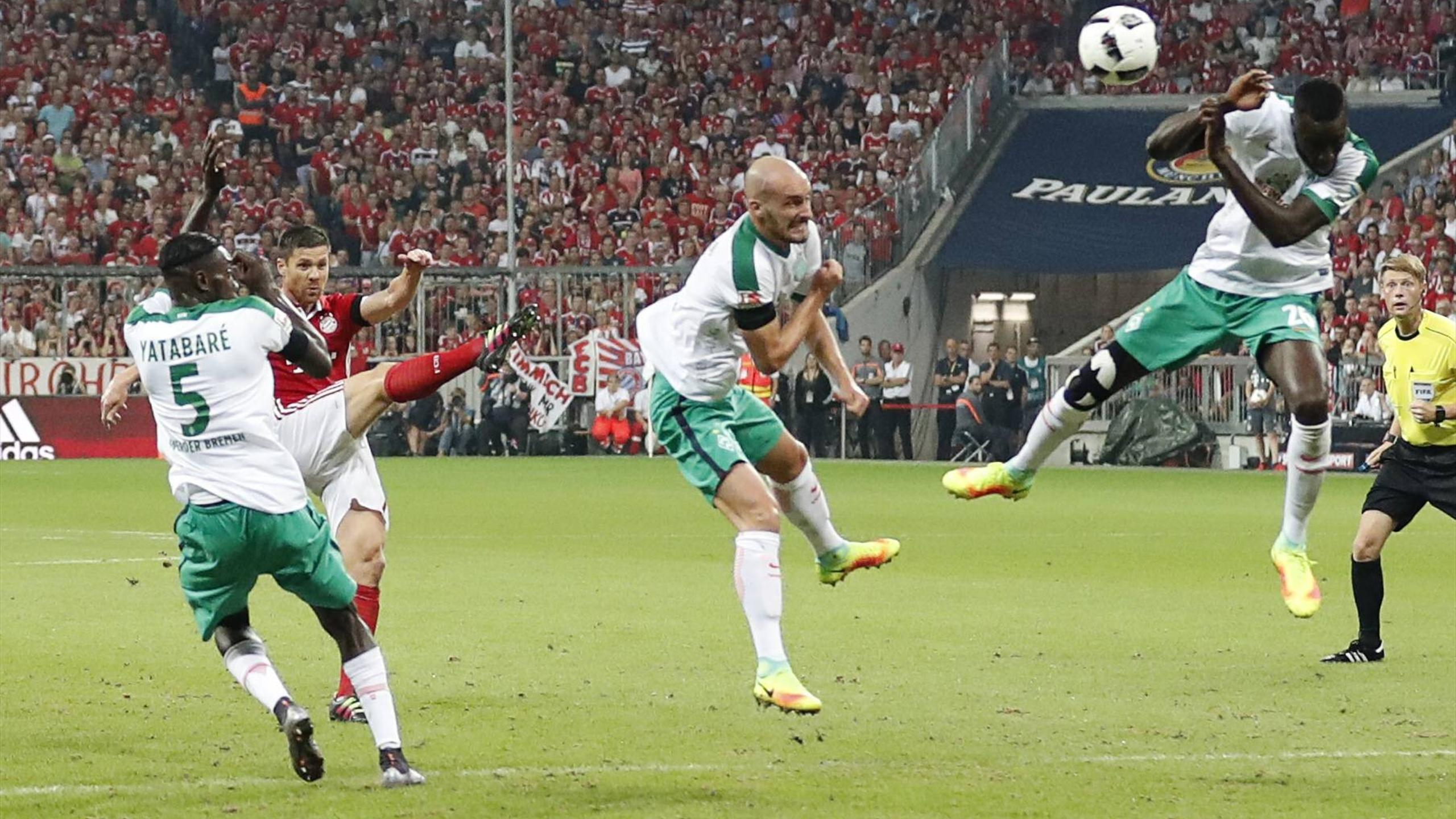 Xabi Alonso scoring against Werder Bremen