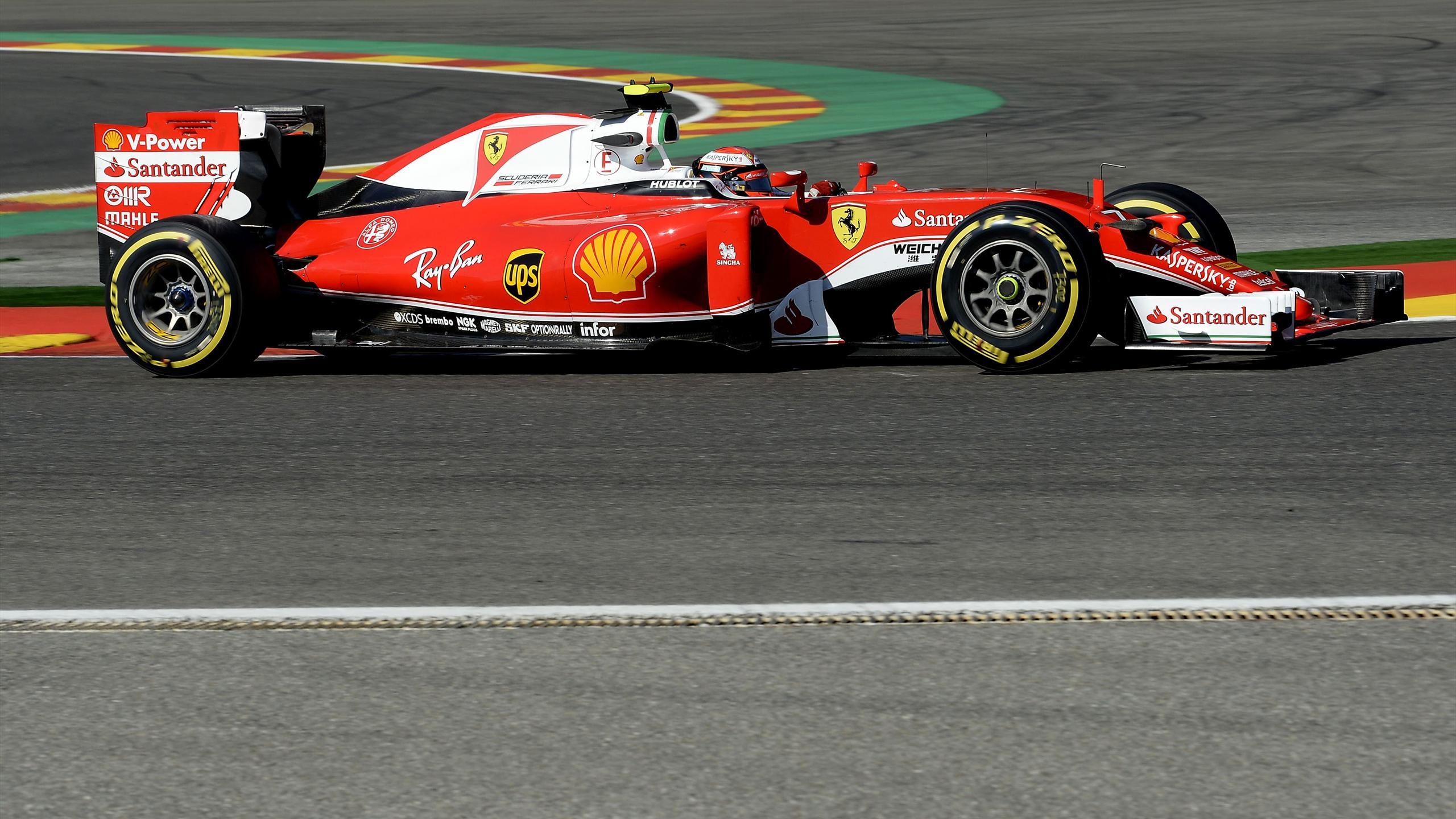 Kimi Räikkönen (Ferrari)  au Grand Prix de Belgique 2016