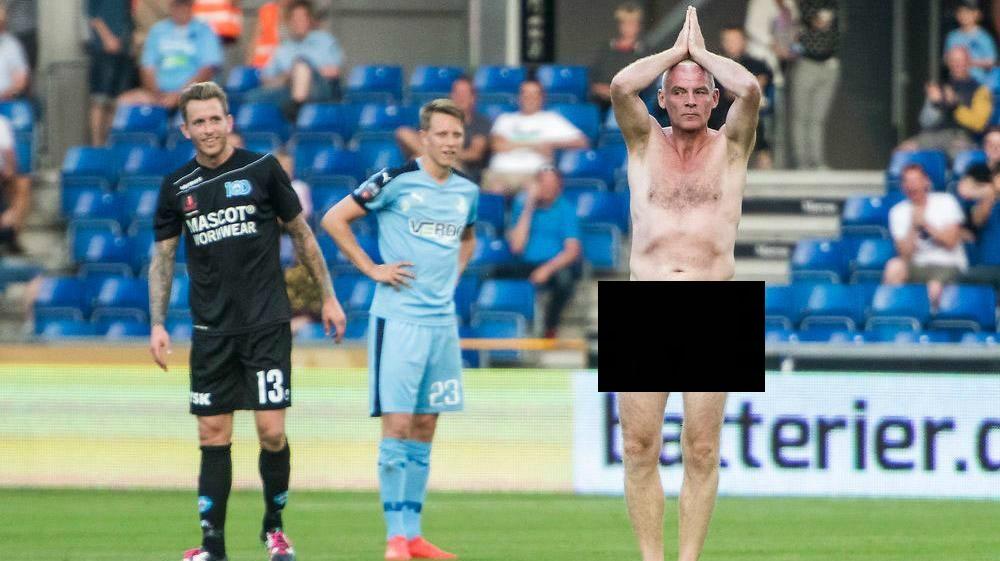 Чемпион Европы пофутболу выбежал голым наполе