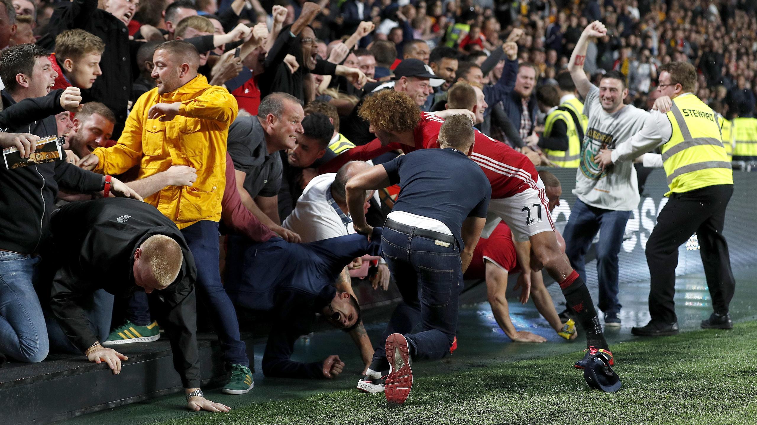 Marouane Fellaini rescues a fan