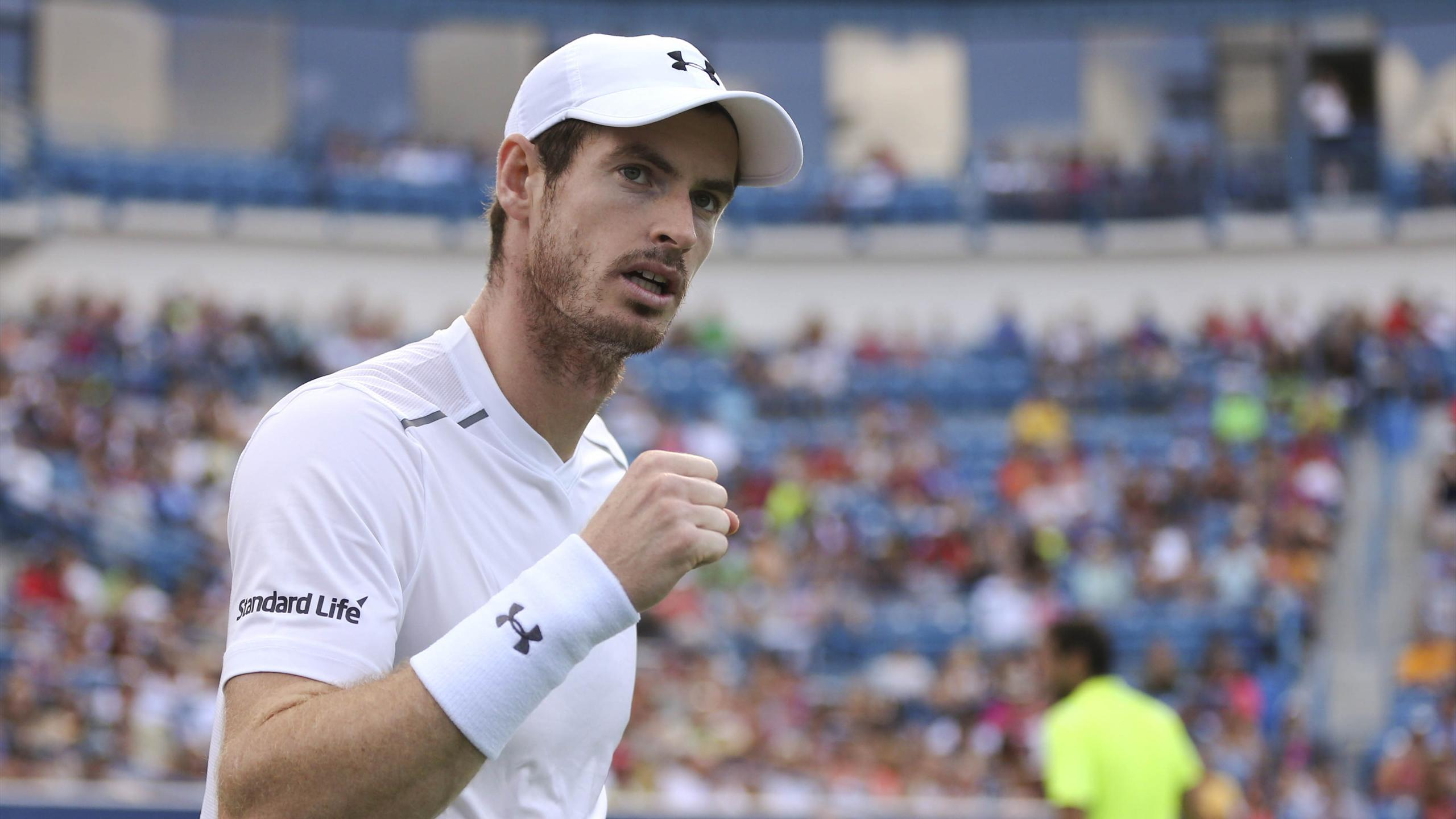 Andy Murray (GBR) reacts against Marin Cilic (CRO)
