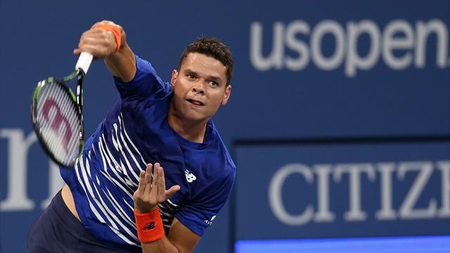 Raonic battles into second round after 7-5, 6-3, 6-4 victory over Brown