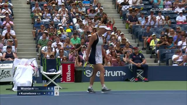 Wozniacki's never-say-die tennis comes up short against Kuznetsova