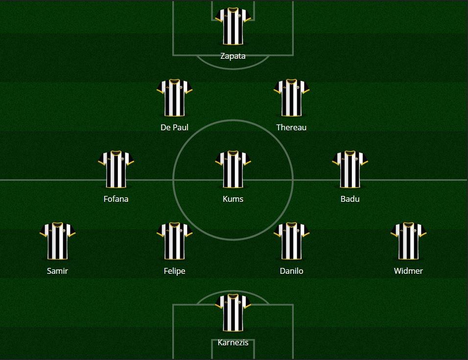 Udinese 2016/17