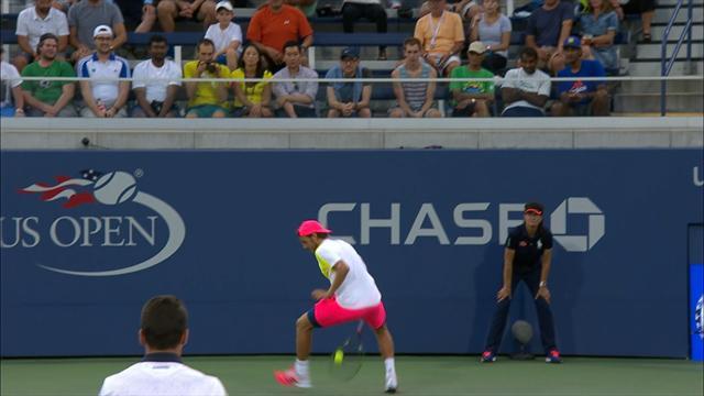 Monfils bat Pouille et se qualifie pour les demies — US Open