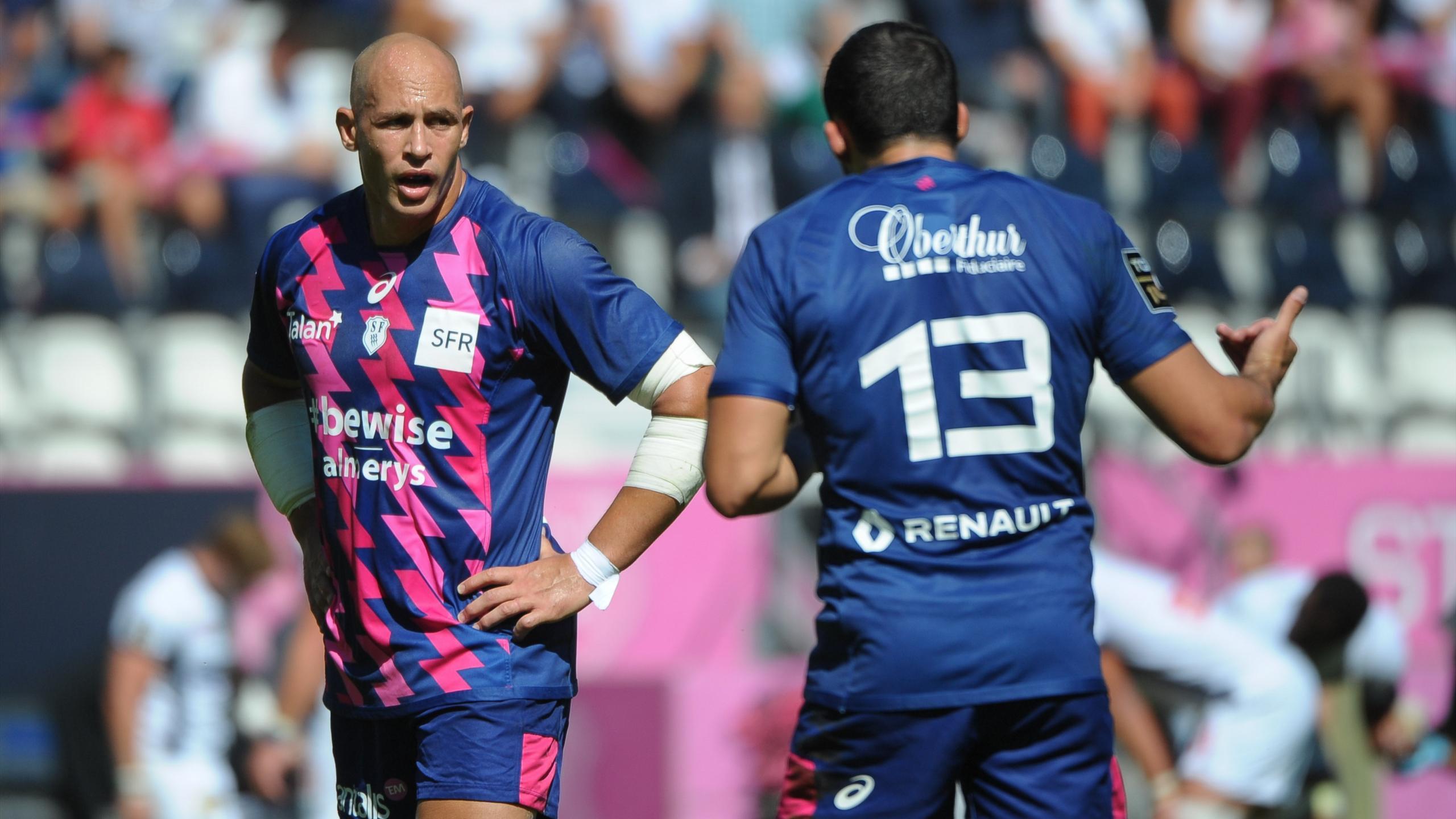 Sergio Parisse et Geoffrey Doumayrou (Stade français) - 3 septembre 2016