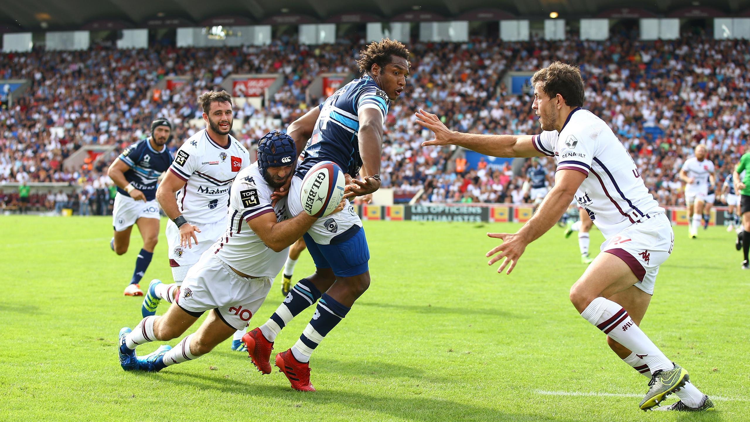 Benjamin Fall (Montpellier) face à Bordeaux-Bègles - 4 septembre 2016