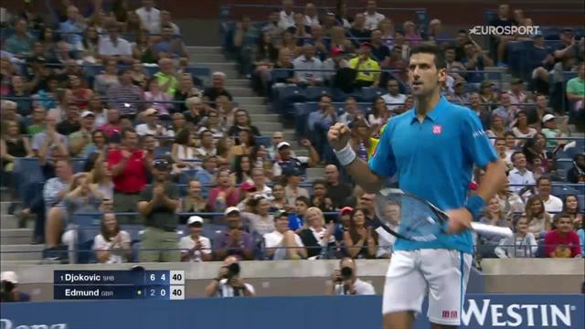 Une amortie, un lob millimétré et une amortie cachée, Djokovic a dégoûté Edmund