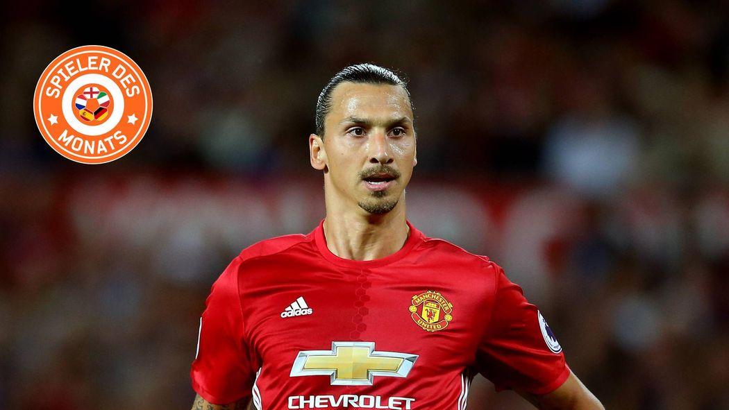 Zlatan Ibrahimovic Zum Spieler Des Monats August In Europa Gewahlt
