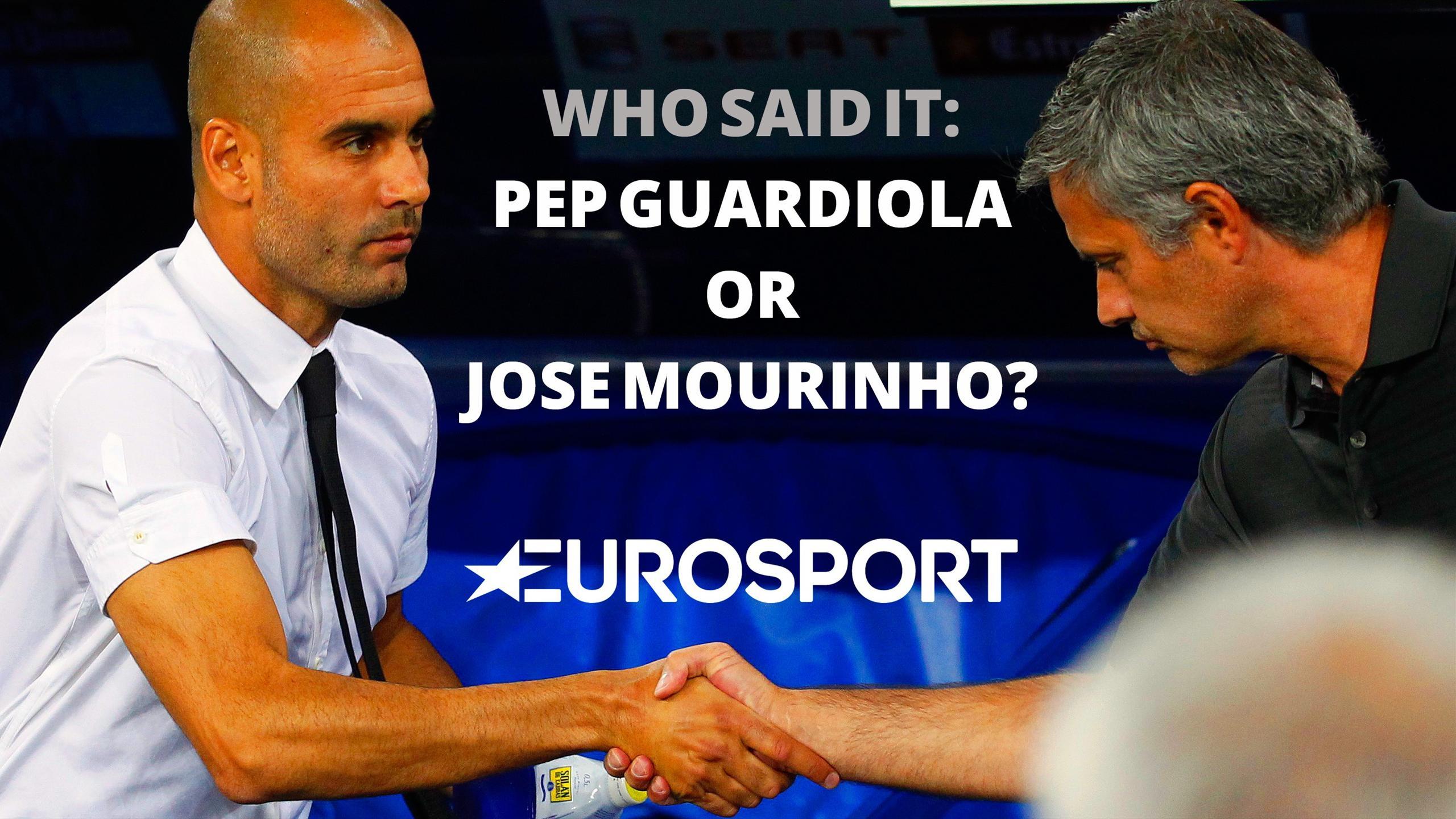 Pep Guardiola and Jose Mourinho quiz