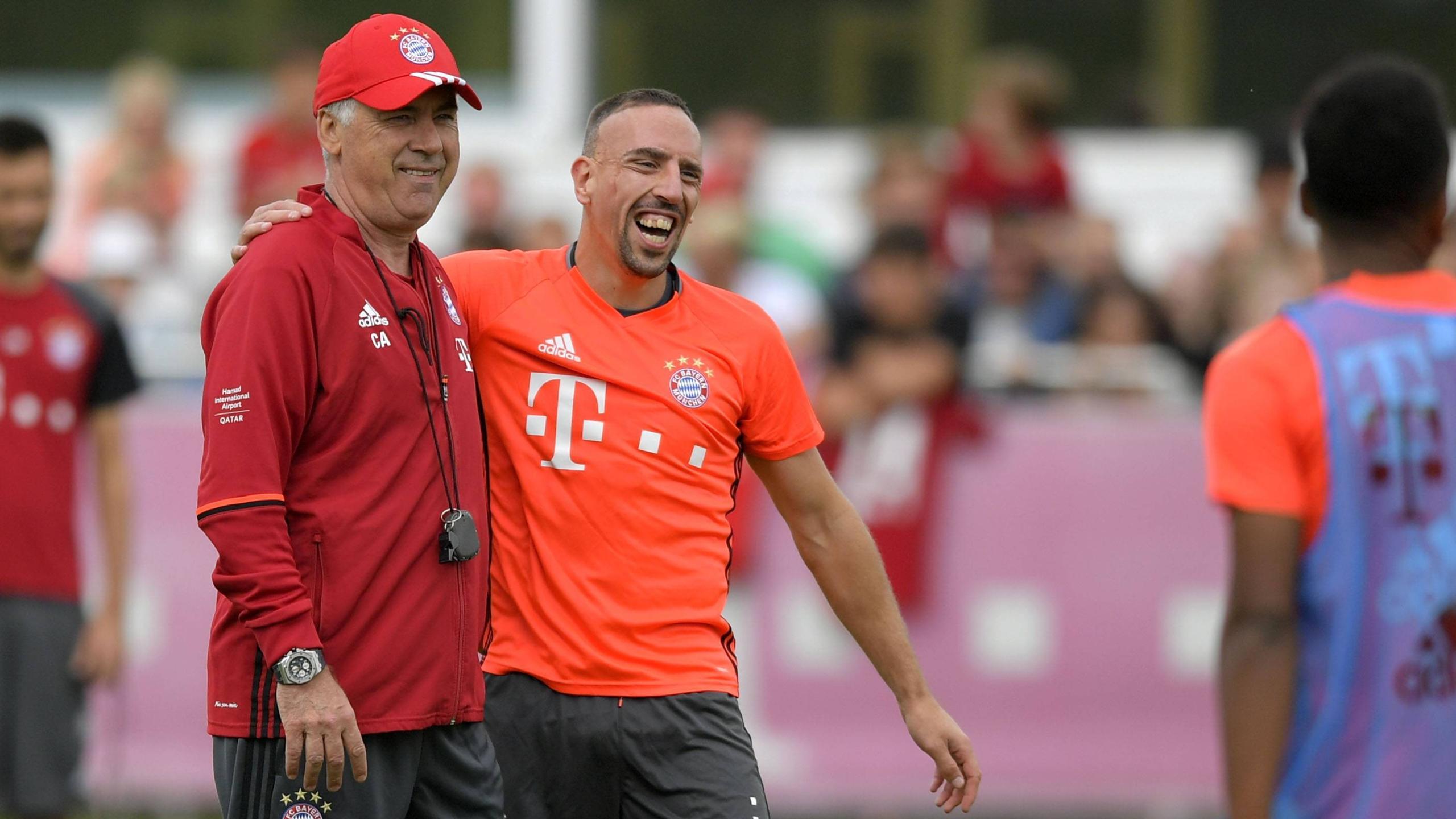Carlo Ancelotti et Franck Ribéry