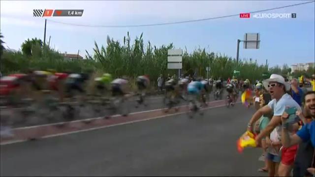 Vuelta, 18 Etappe: Magnus Cort gewinnt den Sprint vor Arndt