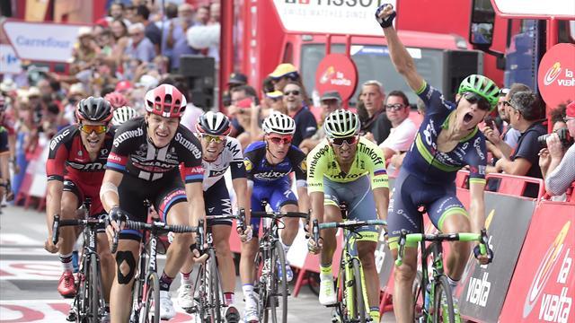 Cort Nielsen s'offre le sprint, Quintana attend le chrono