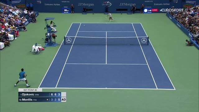 T-shirt déchiré de Djokovic et revers de mammouth : l'improbable balle de 3e set de Gaël Monfils