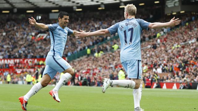 Guardiola's City win Manchester derby at Old Trafford