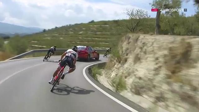 La chute qui a contraint Rojas à quitter la Vuelta