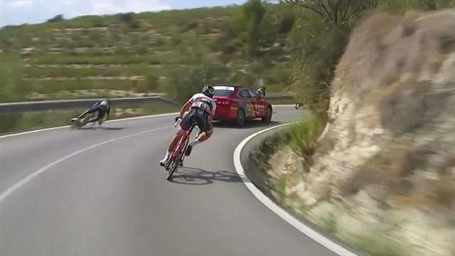 José Joaquín Rojas abandona la Vuelta tras sufrir una dura caída