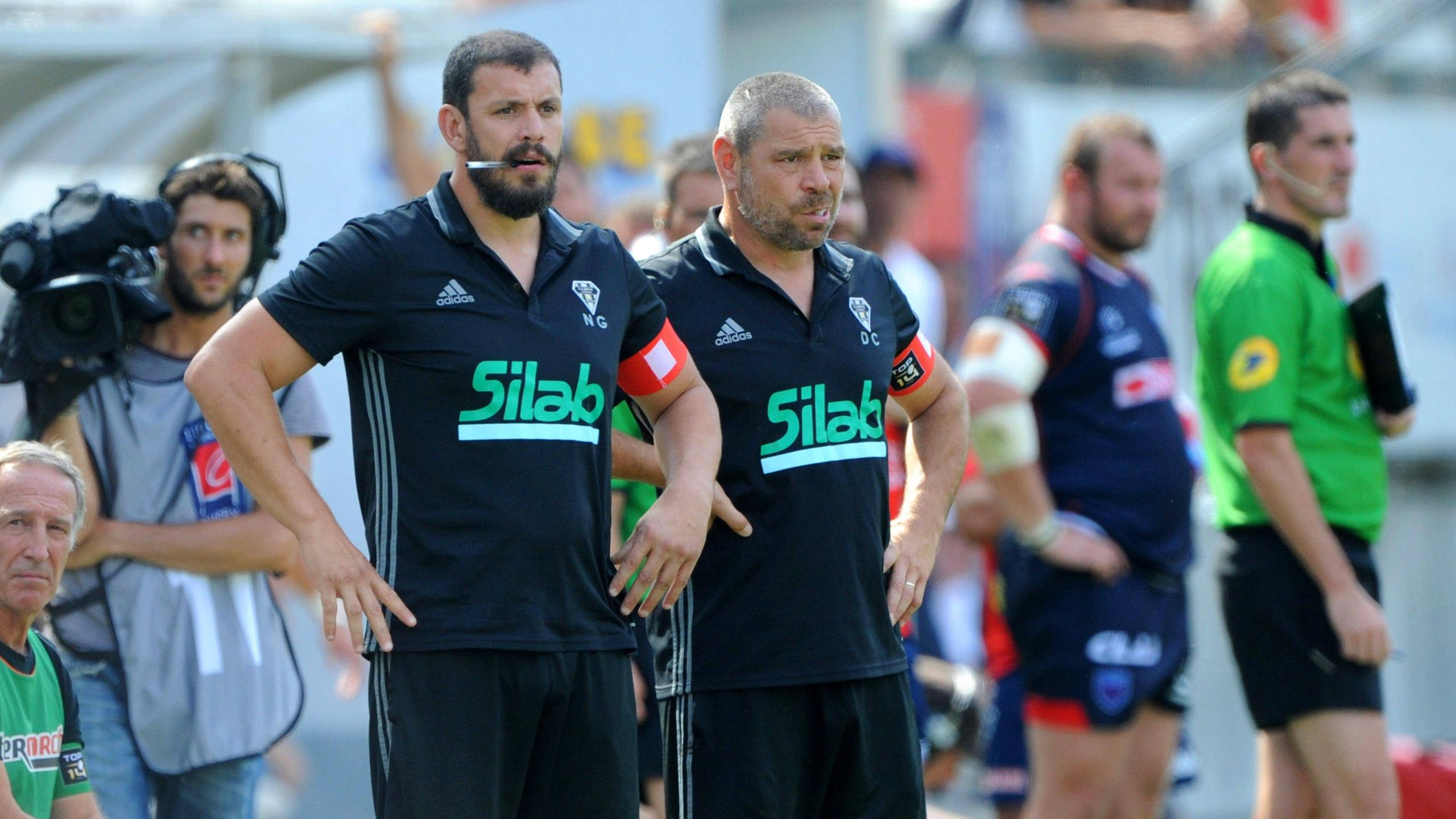 Nicolas Godignon et Didier Casadei (Brive) - 11 septembre 2016