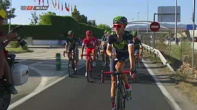 Quintana fête sa Vuelta au champagne