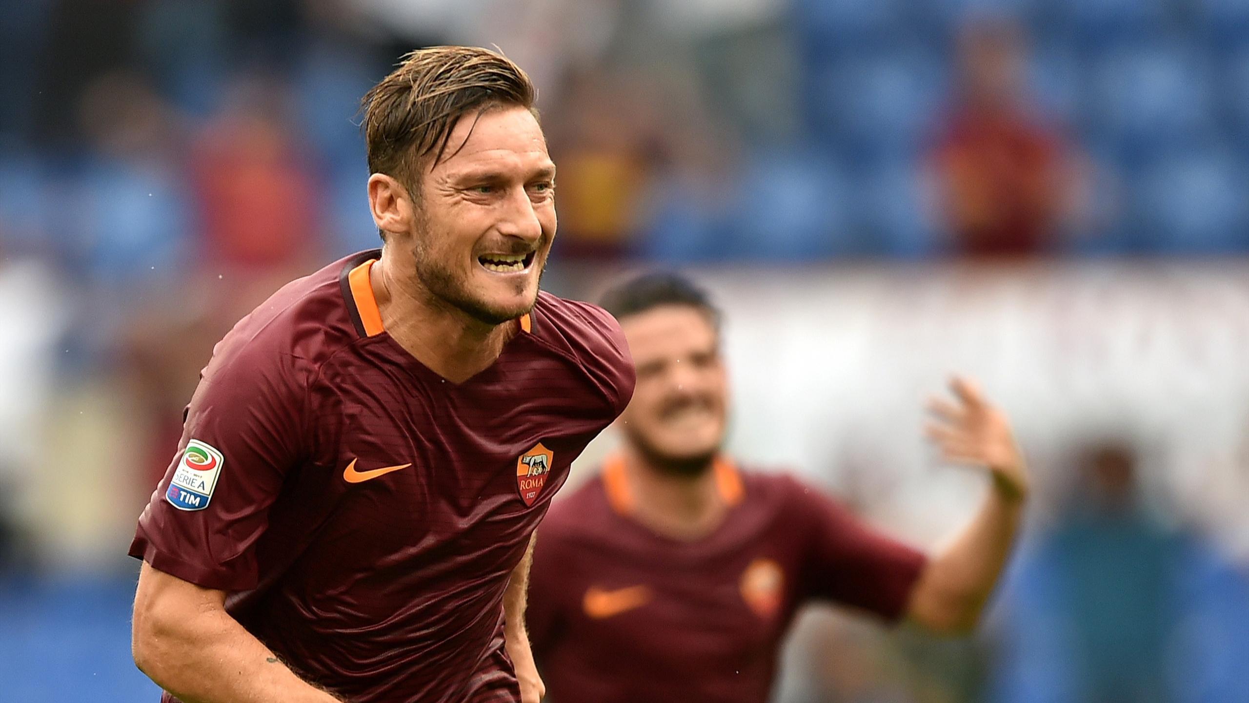 Francesco Totti, buteur avec l'AS Rome le 11 septembre 2016
