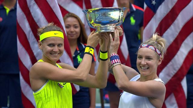 Маттек и Шафаржова выиграли парный US Open