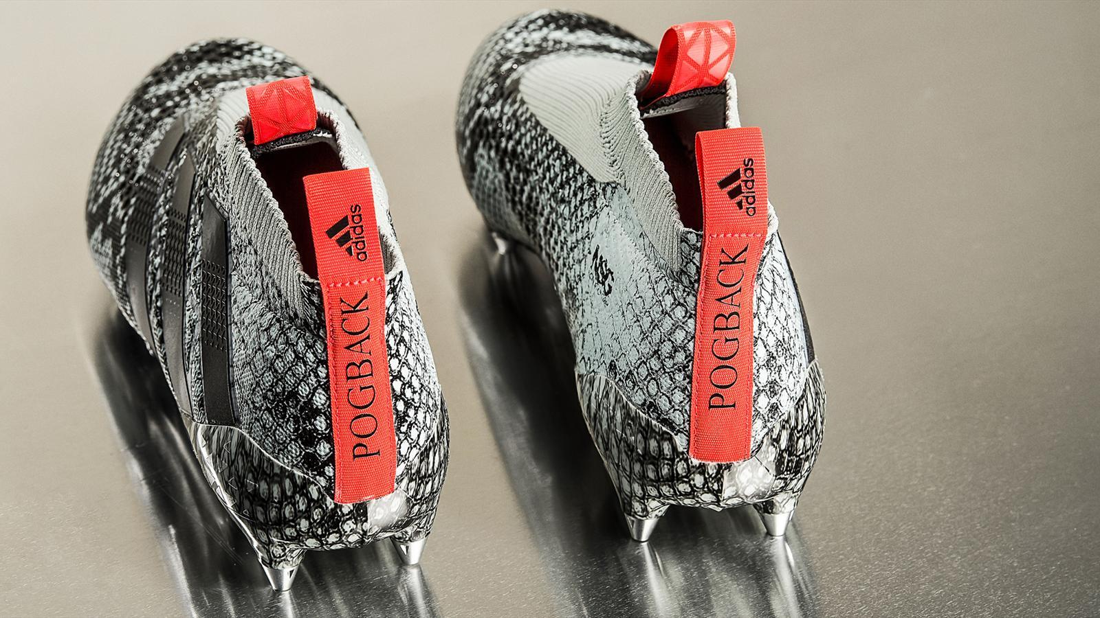 Une nouvelle chaussure façon peau de serpent pour Paul Pogba