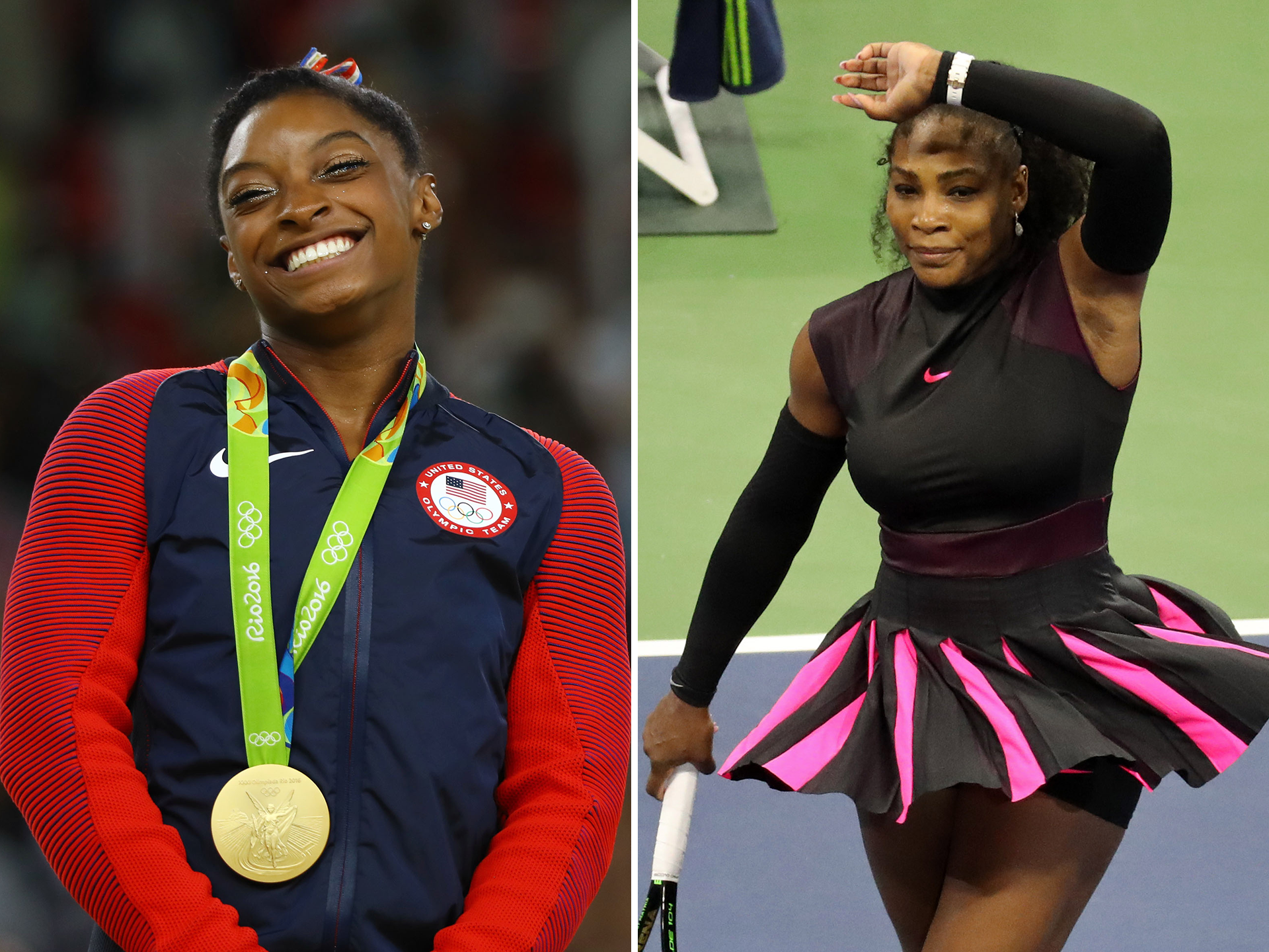 Simone Biles, Serena Williams