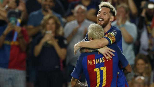 3 buts de Messi, 4 passes de Neymar : le Barça et la MSN ont régalé