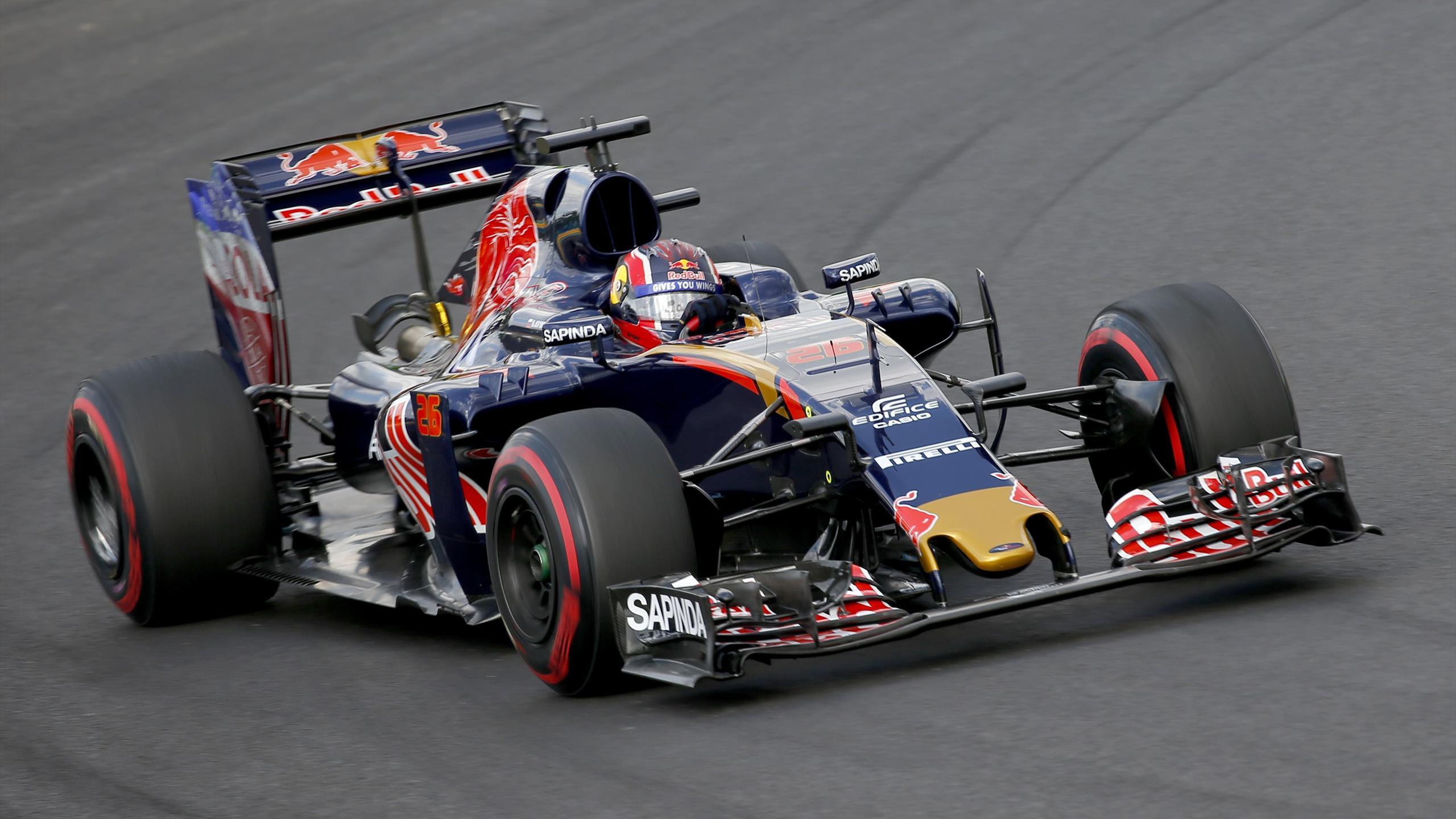 Toro Rosso's Daniil Kvyat during practice