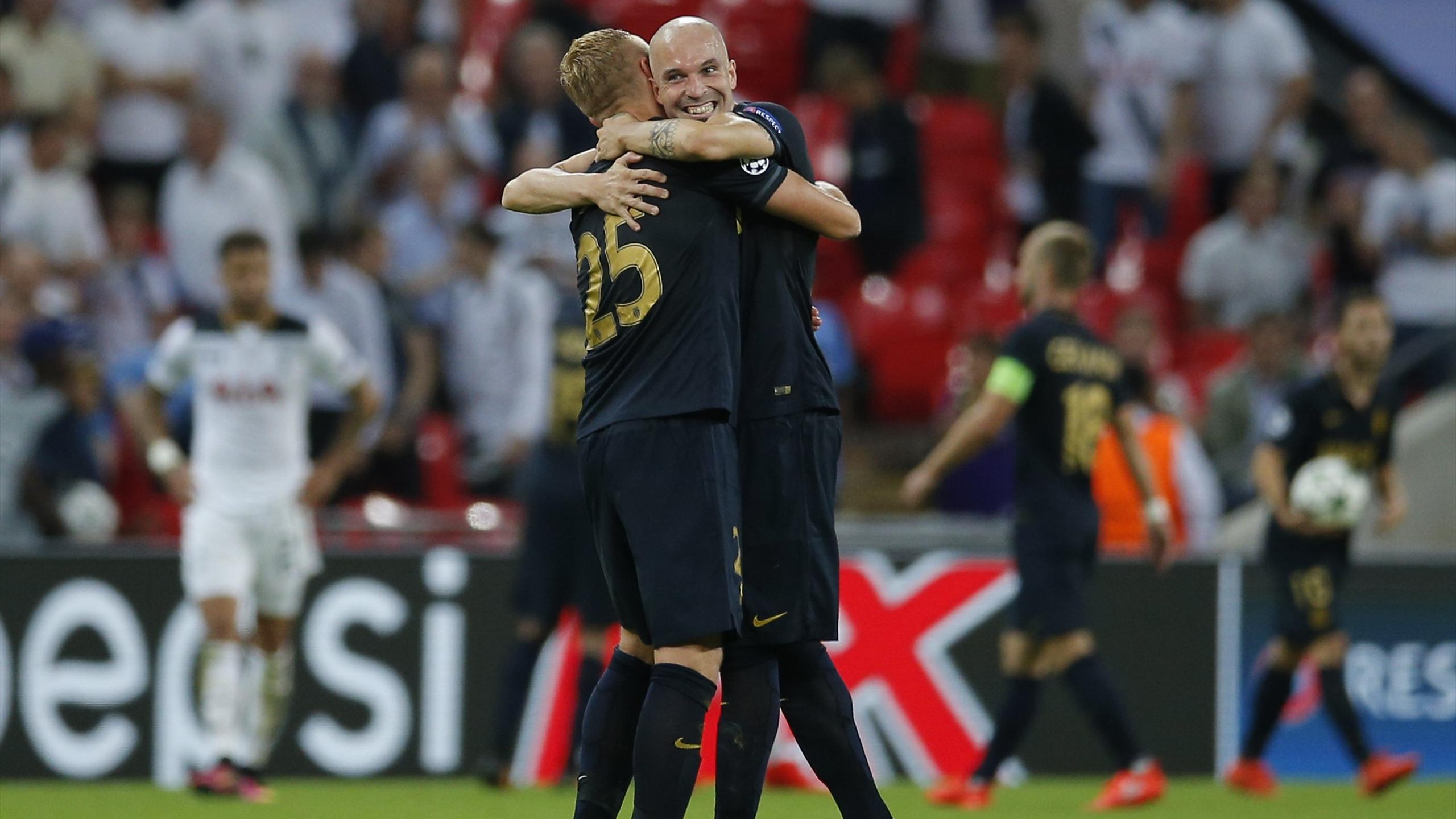 Raggi et Glik lors de la victoire de Monaco à Tottenham