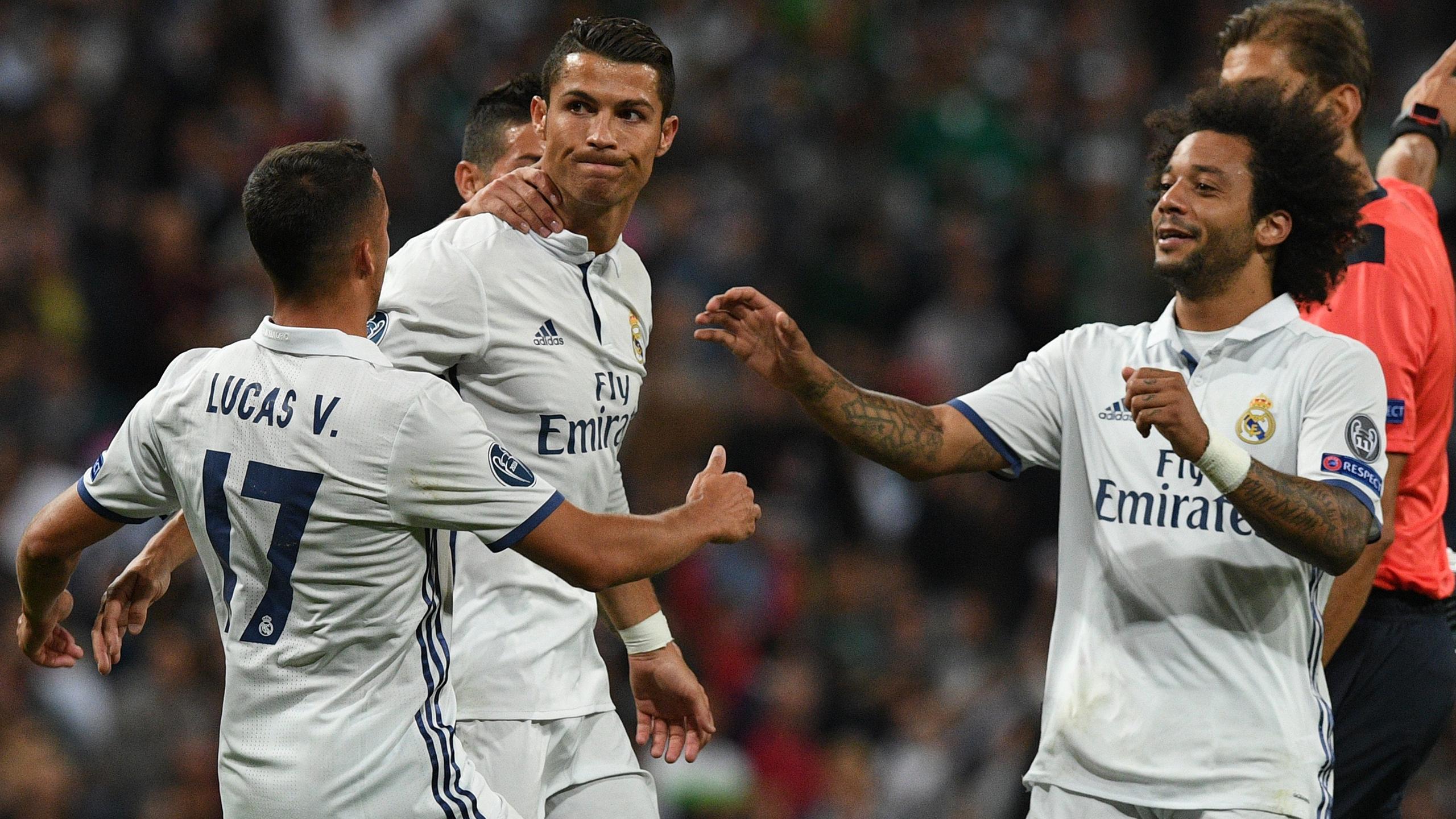 Cristiano Ronaldo jubelt nach seinem Tor für Real Madrid gegen Sporting Lissabon nicht