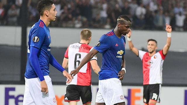 Manchester United dismal in Feyenoord defeat - Europa ...