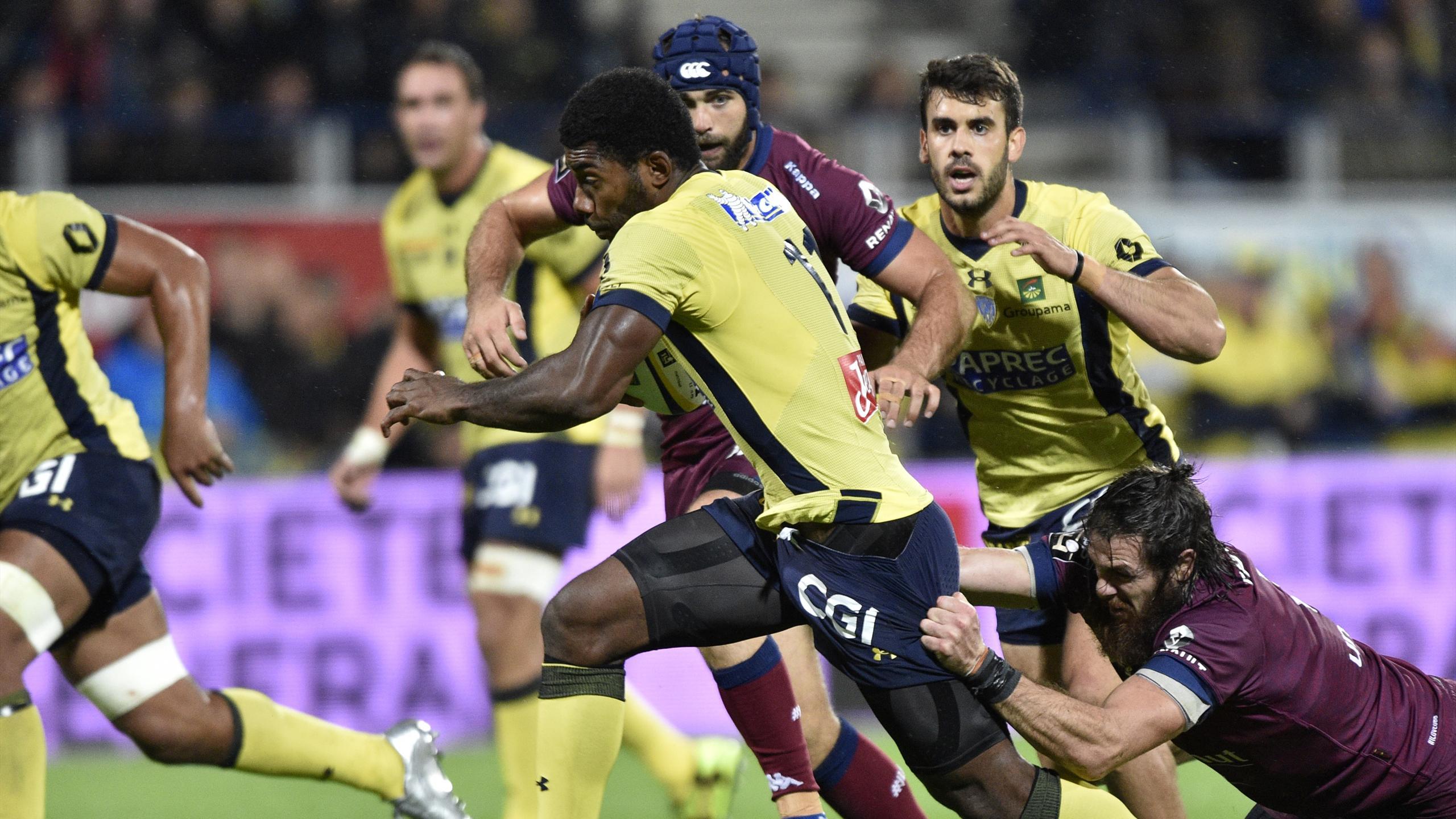 Noa Nakaitaci (Clermont) face à Bordeaux-Bègles - 17 septembre 2016