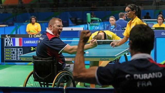 Tennis de table la france remporte l 39 or dans le tournoi par quipes jeux paralympiques 2016 - Equipe de france de tennis de table ...