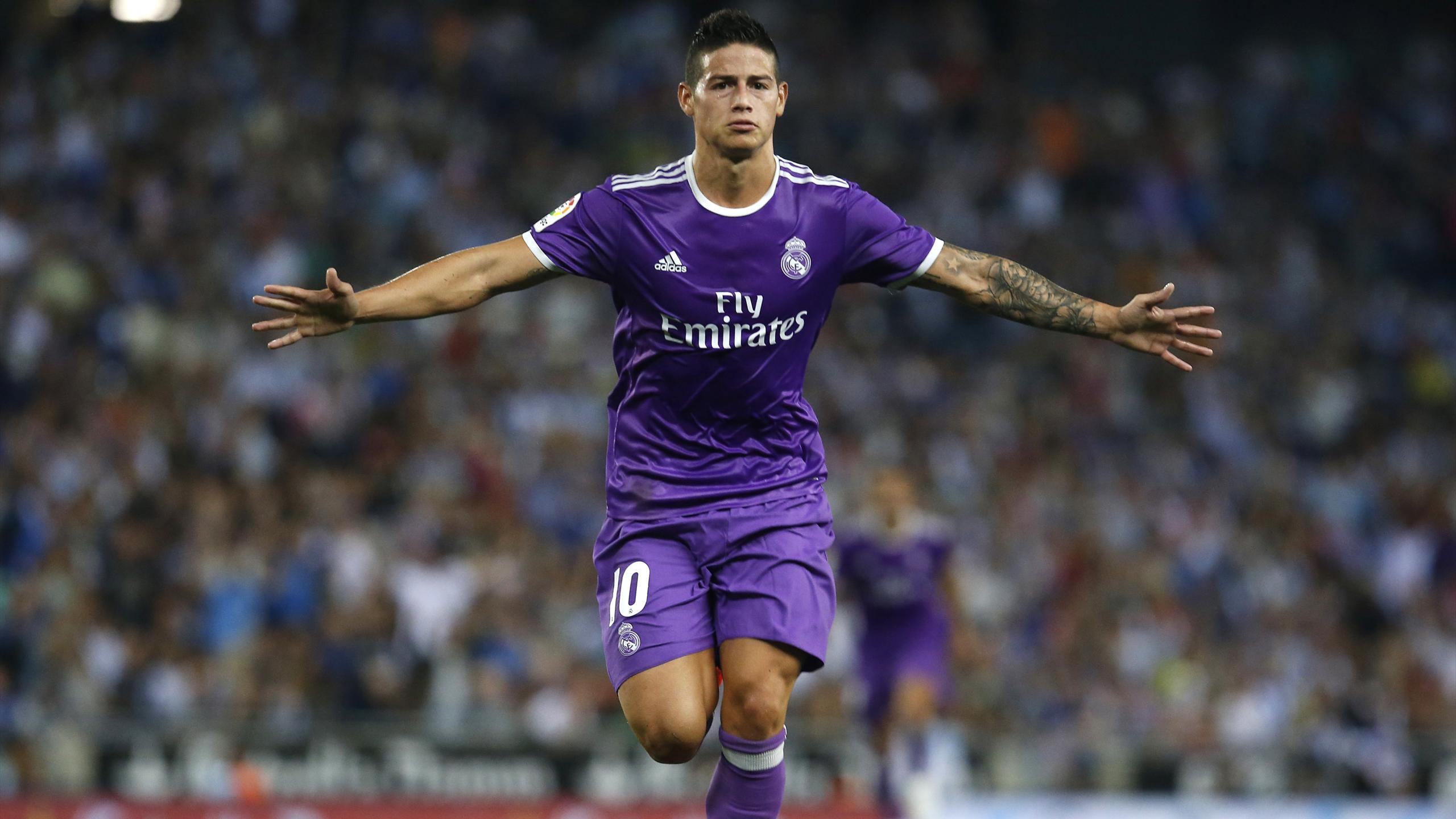 James Rodríguez célèbre son but face à l'Espanyol