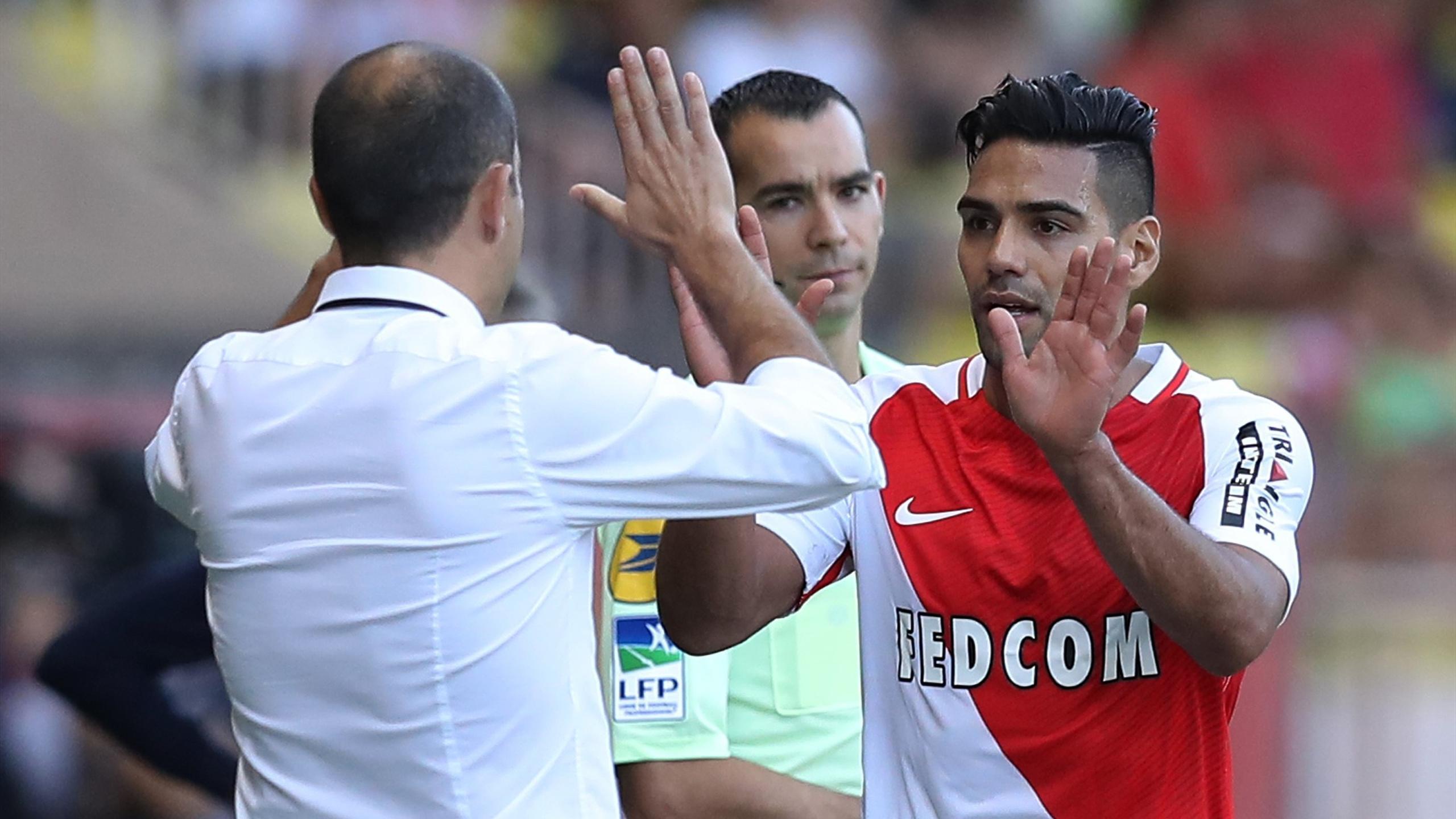 Radamel Falcao lors de Monaco - Rennes en Ligue 1 le 17 septembre 2016