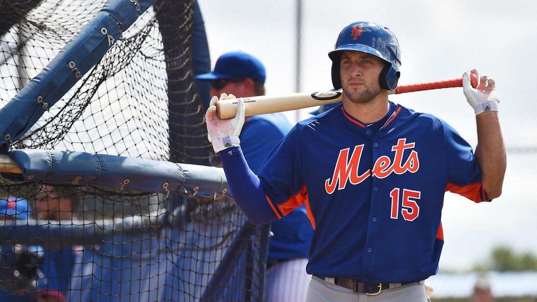 brand new 9d201 efa53 Tim Tebow begins Mets career wearing No. 15 jersey ...