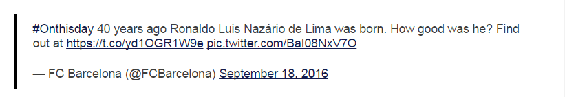 Ronaldo birthday deleted tweet