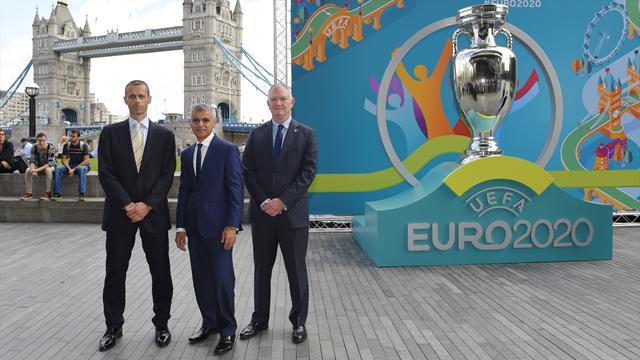 Организаторы Евро-2020 представили логотип и список городов, принимающих турнир