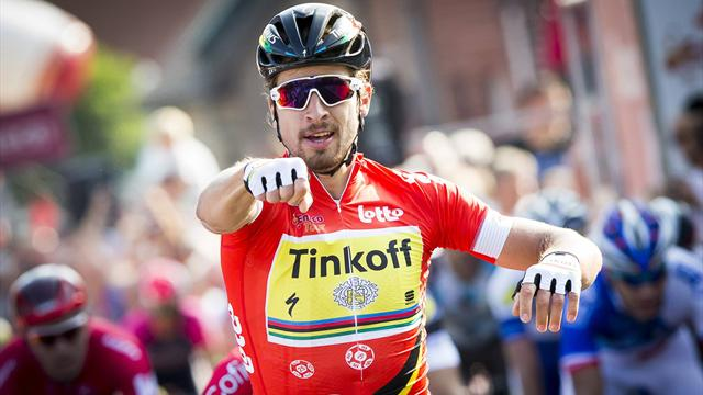 Sagan takes overall lead in Eneco Tour after dramatic photo-finish sprint