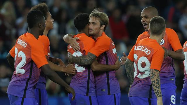 Man City march on with League Cup win over Swansea