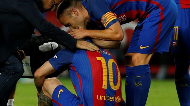 巴萨平马竞 梅西伤退将休战三周