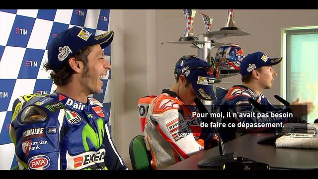 La joute verbale entre Lorenzo et Rossi à Saint-Marin